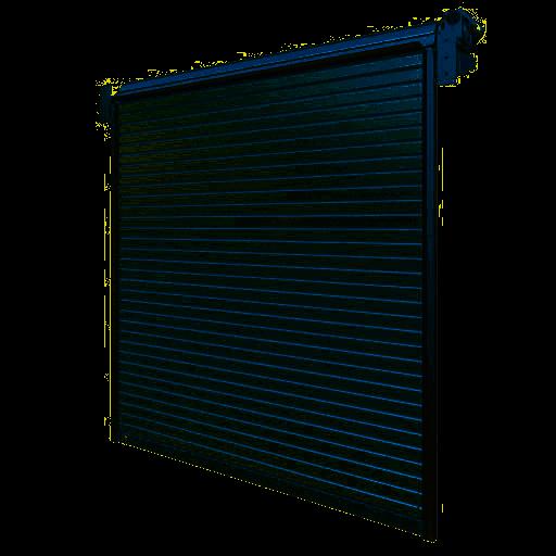 Porte industrielle enroulable en acier R1SD