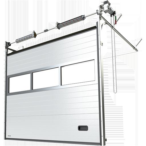 Porte industrielle sectionnelle en aluminium K2 IA