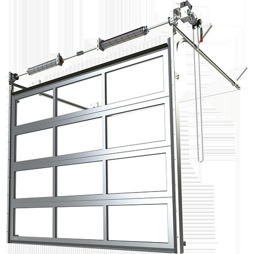 Porte industrielle sectionnelle en aluminium K2 IP