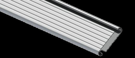 Profilé en aluminium d'une porte industrielle enroulable R1AD