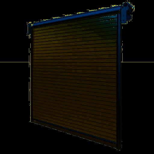 Porte industrielle enroulable en aluminium R1AD