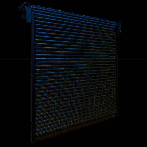 Porte industrielle enroulable en aluminium R1AS