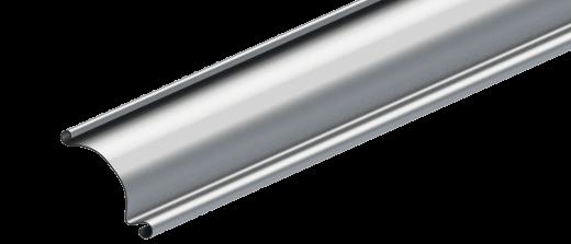 Profilé en aluminium d'une porte industrielle enroulable R1AS