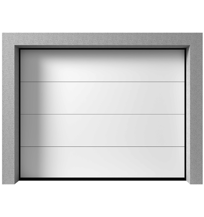 Porte de garage sectionnelle K2 RF