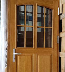 Porte d'entrée bois ligne classique