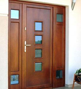 Porte d'entrée bois ligne moderne