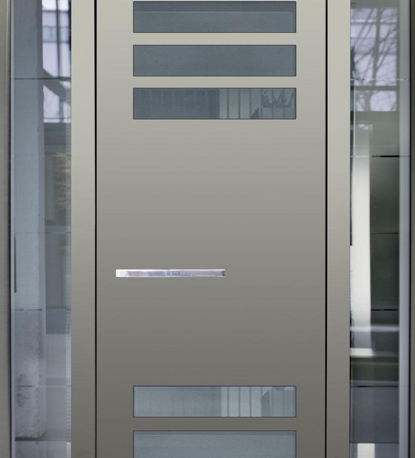Porte d'entrée aluminium New Line